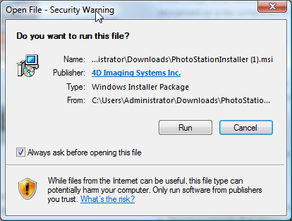 Typical Browser File Download Warning